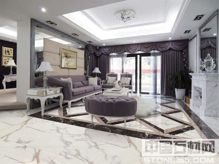 大理石客厅装饰   ee雅士白大理石具有:1、颜色白、纹理美