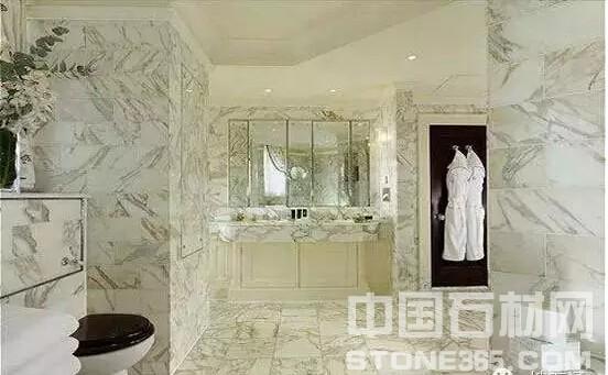 乳白色和绿色花纹的大理石非常高贵婉约
